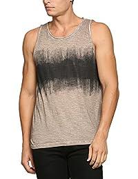 Abof Men Light Brown Printed CPD Regular Fit Vest