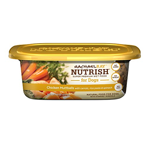 Rachael Ray Nutrish Natural Wet Dog Food, Chicken Muttballs with Pasta, 8 oz tub, Pack of 8 (Pasta Filler compare prices)