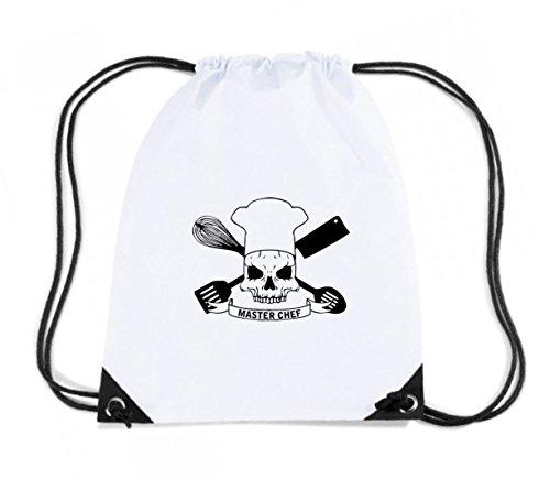 cotton-island-zaino-zainetto-budget-gymsac-t0614-teschio-cuoco-master-chef-fun-cool-geek-taglia-capa