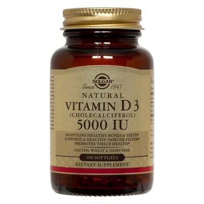 Solgar, Vitamin D3, Cholecalciferol, 5000 IU, 100 Softgels