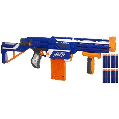 Nerf N-strike Elite Retaliator (Colors May Vary) - 4 Blasters in 1 - 3 Interchangeable Parts - Fires up to 90 Feet - Trademarks Hasbro - Played By Young & Old - Improves Family Bonding for Your Child (Hail Fire Nerf Gun compare prices)