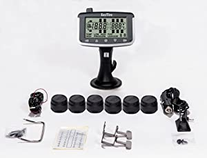 EEZTire Tire Pressure Monitoring System – 6 Sensors (TPMS) – FREE U.S. SHIPPING AT CHECK OUT