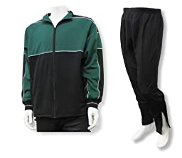Roma youth and men\'s poly-knit athletic warmup set - size Adult L - color Forest/Black