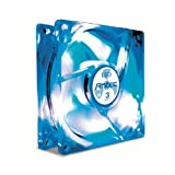 Antec TriCool 80mm Blue LED Cooling Fan with 3-Speed Switch