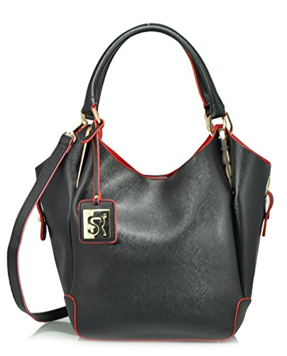 sr-squared-by-sondra-roberts-bag-in-a-bag-saffiano-tote-bag-black-red