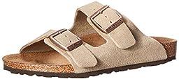 Birkenstock Toddler/Little Kid Arizona Sandal,Taupe Suede,26 Regular EU