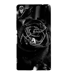 VINTAGE BLACK HAUNTED ROSE DESIGN A SYMBOL OF HATRED 3D Hard Polycarbonate Designer Back Case Cover for Sony Xperia C6