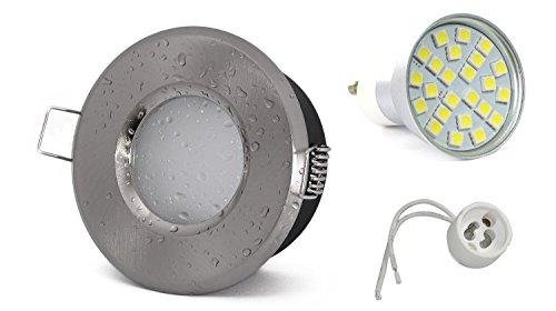 kw-set-colore-acciaio-inox-spazzolato-bagno-faretto-incasso-ip65-5-watt-450-lumen-led-bianco-freddo-
