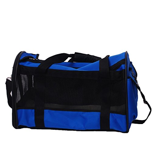 Gardner Pet THE BEST Standard Size Foldable Soft-Sided Pet Travel Carrier, Black and Blue