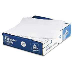 Avery 4021 Dot matrix printer white addressing labels, 3 x 15/16, 4 across, 20000/box