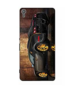 Case Cover Car Printed Multicolor Hard Back Cover For Sony Xperia XA Dual