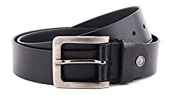 WildHide Men's Leather Belt (LTBLT006--34, Black, 34)