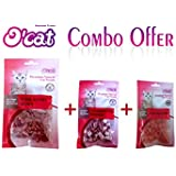 Pets Empire Combo Offer O'Cat Chicken Bite Cat Treat ( 50 Gms ) + O'Cat TUNA IN FISH SHAPE Cat Treat ( 50 Gms...