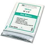 Quality Park 46197 Quality Park Redi-Strip Jumbo Poly Mailers, Recycled, 10x13, White, 100/Pk