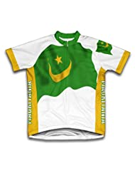 Mauritania Flag Short Sleeve Cycling Jersey for Women