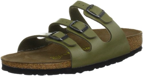 Birkenstock Women's Florida 12 UK4 UK33 Khaki Slides Sandal 5 UK 38 EU