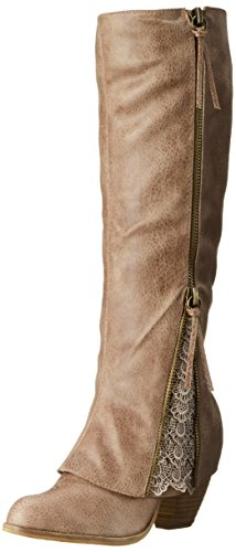 Not Rated Women's Sassy Classy Chelsea Boot, Taupe, 7.5 M US