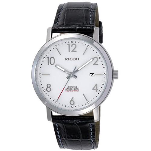 [リコー]RICOH 腕時計 シュルード・アンビション ソーラー充電式 10気圧防水 ホワイト 697008-07 メンズ