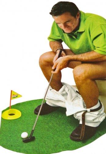 Longridge Potty Puttergolf Trainer - Set de golf pour WC - Vert