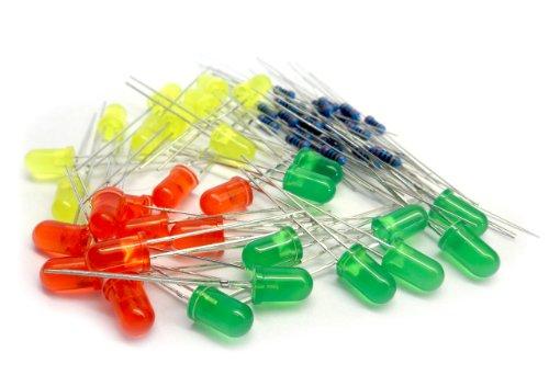 microtivity IL083 5mm Assorted LED w/ Resistors