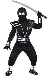 Silver Mirror Ninja Kids Costume