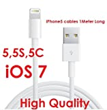 USB Data & Charger Cable for Apple iPhone 5 5G, iPod Touch 5 5th, iPod Nano 7G 7th, iPad Mini