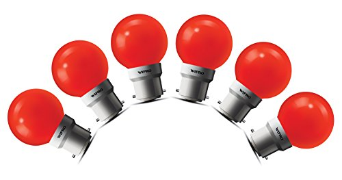 0.5W LED Bulb (Red , pack of 6)