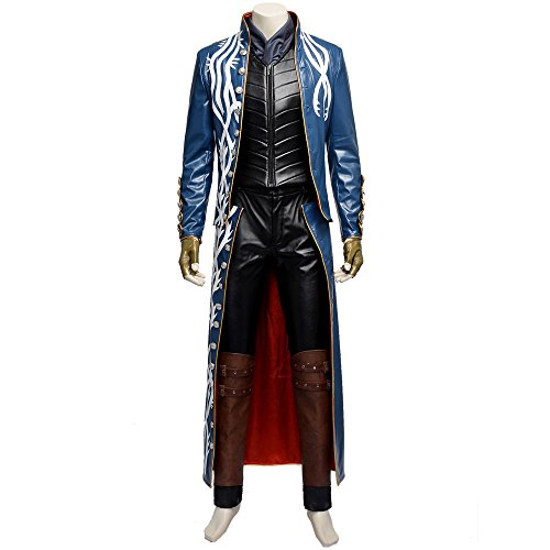 [MLYX Men's Devil May Cry III 3 Virgil Cosplay Costume (X-Large, Mixed)] (Devil May Cry 3 Costumes)