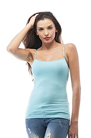 cami camisole built in shelf bra adjustable spaghetti. Black Bedroom Furniture Sets. Home Design Ideas