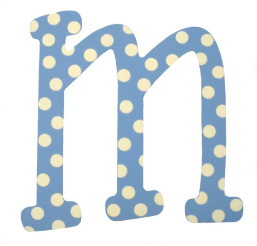 My Baby Sam Polka Dot Letter m, Blue/White