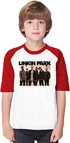 Linkin Park Soft Material Baseball Kids T-Shirt by True Fans Apparel - 100% Organic, Hypoallergenic Cotton- Casual & Sports Wear - Unisex for Boys and Girls 3-4 years