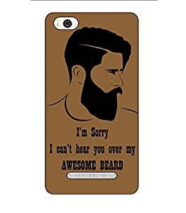 Happoz Xiaomi Redmi 3s Cases Back Cover Mobile Pouches Shell Hard Plastic Graphic Armour Premium Printed Designer Cartoon Girl 3D Funky Fancy Slim Graffiti Imported Cute Colurful Stylish Boys D327