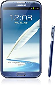 Samsung - Smartphone Galaxy Note II N7100 da 16GB, schermo touchscreen AMOLED da 14 cm (5,5''), Quad-core, 1,6GHz, fotocamera da 8 Megapixel, Android 4.1, colore: Bianco marmo from Samsung