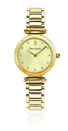 Pierre Lannier - 042G542 - Elegance Style - Montre Femme - Quartz Analogique - Cadran Doré - Bracelet Acier plaqué Doré