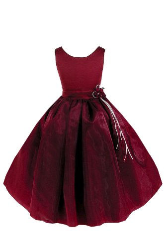 Amj Dresses Inc Girls Burgundy Flower Girl Holiday Dress Size 10