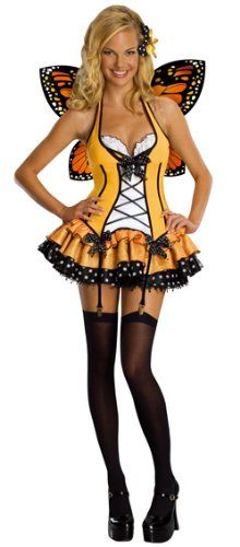 Secret Wishes  Fantasy Butterfly Costume, Orange, Small