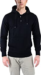 vibgyor Men's Cotton Sweatshirt (VSWFQBLWBN_42, Black, 42)