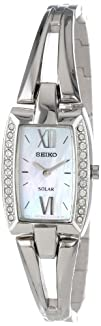 Seiko Womens SUP083 Stainless Steel Analog with Mother-Of-Pearl