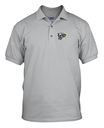 Sm. Eagle Head School Mascot Embroidery Embroidered Unisex Golf Polo Shirt