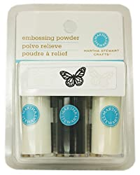 Martha Stewart Embossing Powders, Essentials, 3-Pack