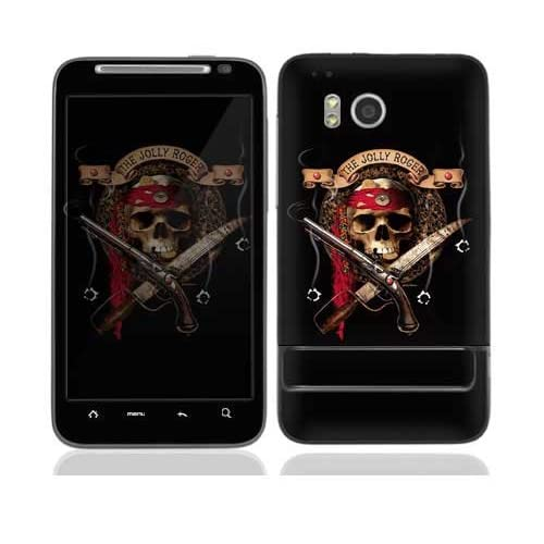The Jolly Roger Protective Skin Cover Decal Sticker for HTC Thunderbolt Cell Phone