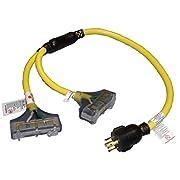 Generator cord: 240V L14-30 DEK 3 ft Twistlock Adapter