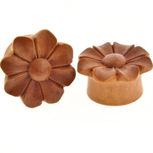 Pair of Sabo Wood Wildflower Plugs: 1