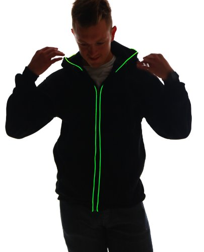 Light Up Hoodies (X-Large, Green)