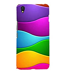 MULTICOLOURED INTERLOCKED WAVES PATTERN 3D Hard Polycarbonate Designer Back Case Cover for One Plus X :: One+X :: OnePlus X