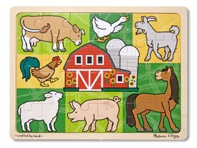Cheap Pcs Group 24 Pc Patchwork Farm Animal Jigsaw Puzzle – (Child) (B0039D3156)