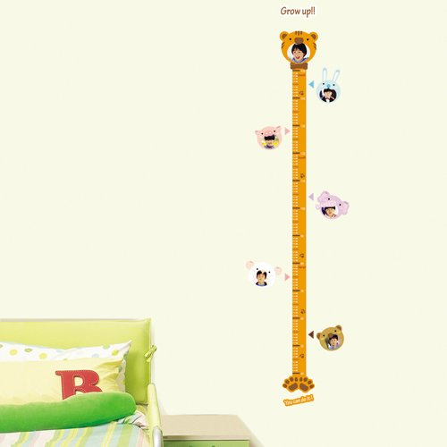 Reusable Easy Wall Applique Stickers - Child Baby Infant Height Measure Chart