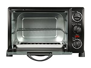 Rosewill RHTO-13001 6 Slice Black Toaster Oven Broiler with Drip Pan from Rosewill