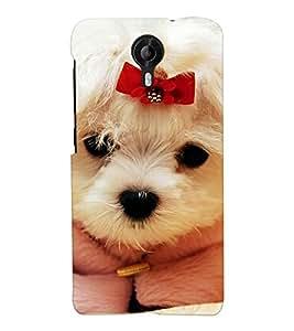 Chiraiyaa Designer Printed Premium Back Cover Case for Micromax Canvas Nitro 4G E455 (dog puppy cute) (Multicolor)