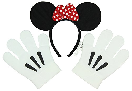 Disney Minnie Mouse Ears And Gloves Set